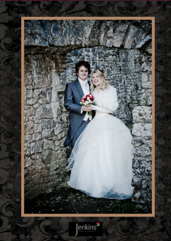 Bride & Groom wedding photograph Oxwich Castle